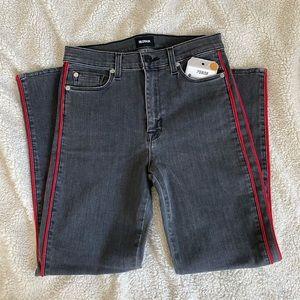 Hudson high rise crop straight leg jeans